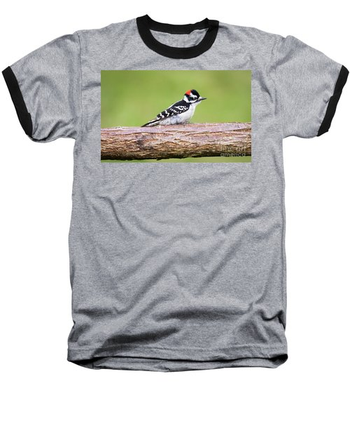 Baseball T-Shirt featuring the photograph Wet Downy Woodpecker  by Ricky L Jones