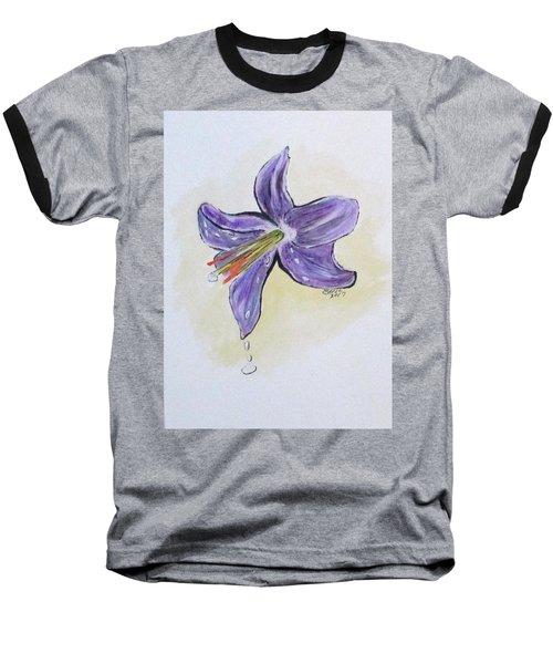 Wet Flower Baseball T-Shirt