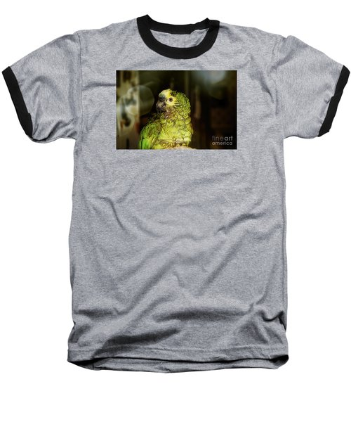 Baseball T-Shirt featuring the photograph Wet Parrot by Melissa Messick