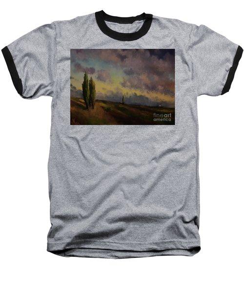 Wet Sky Baseball T-Shirt by Maja Sokolowska
