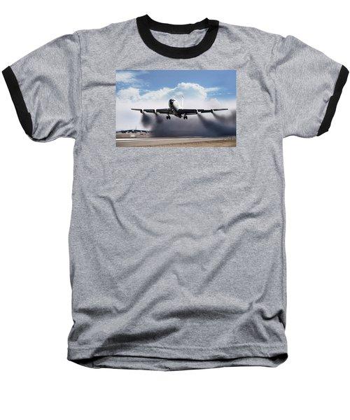 Wet Takeoff Kc-135 Baseball T-Shirt by Peter Chilelli