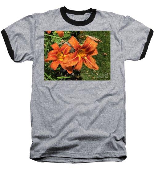 Wet Tiger Llilies Baseball T-Shirt