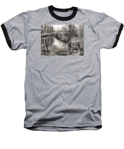 Wetland Essence Baseball T-Shirt by Betsy Zimmerli