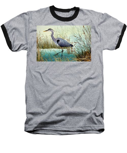 Baseball T-Shirt featuring the painting Wetland Beauty by James Williamson