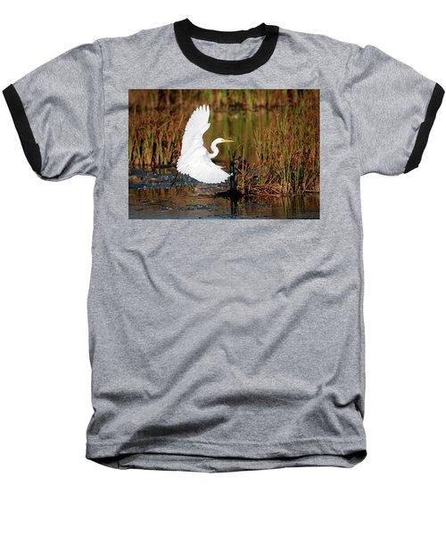 Wetland Landing Baseball T-Shirt by Ray Congrove