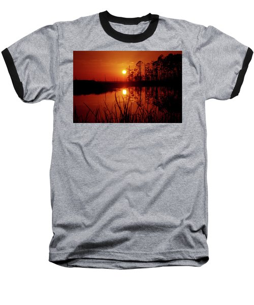 Baseball T-Shirt featuring the photograph Wetland Sunset by Robert Geary