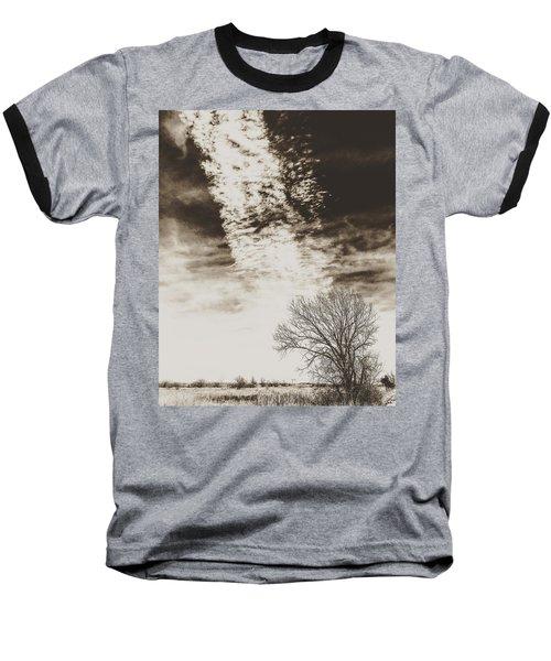 Wetlands Meet Chemtrails Baseball T-Shirt