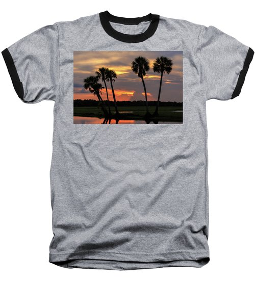 Wetlands Sunset Baseball T-Shirt