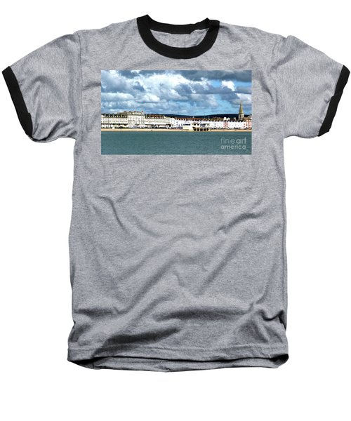 Weymouth Seafront Baseball T-Shirt by Stephen Melia