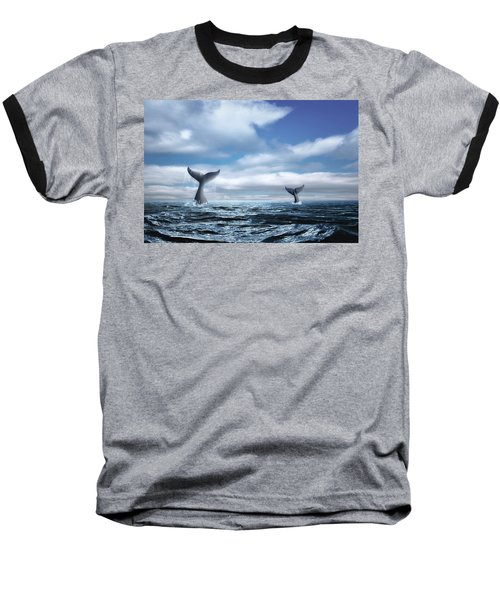 Baseball T-Shirt featuring the photograph Whale Of A Tail by Tom Mc Nemar