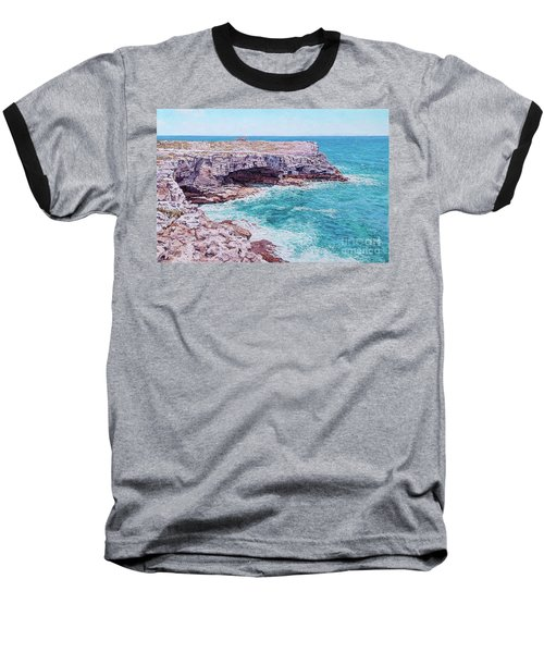 Whale Point Cliffs Baseball T-Shirt