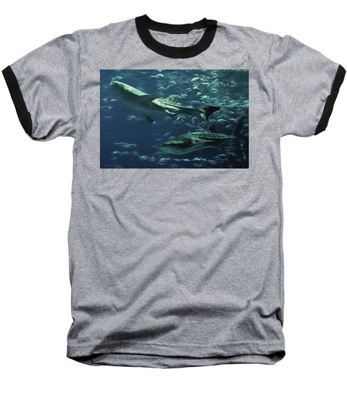 Whale Shark Couple Baseball T-Shirt