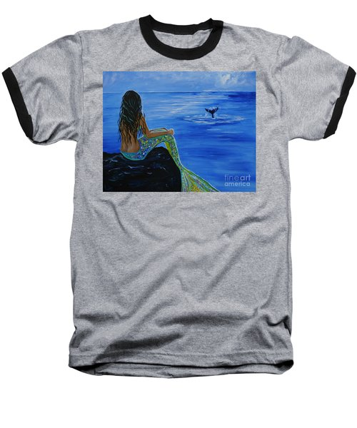 Whale Watcher Baseball T-Shirt