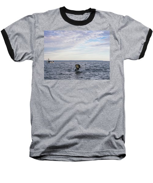 Whale Watching In Canada Baseball T-Shirt by Trace Kittrell