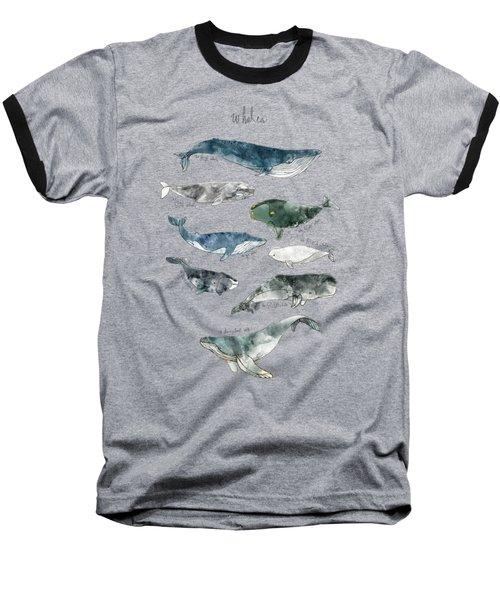 Whales Baseball T-Shirt