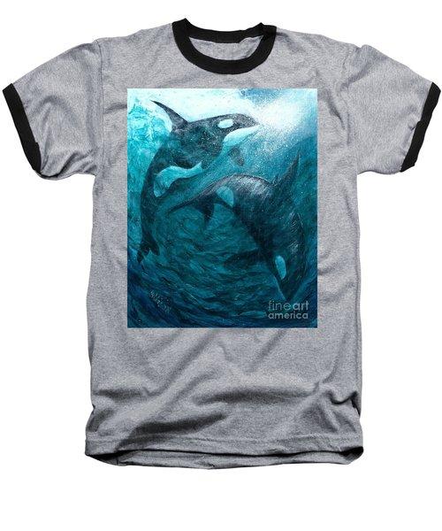 Whales  Ascending  Descending Baseball T-Shirt