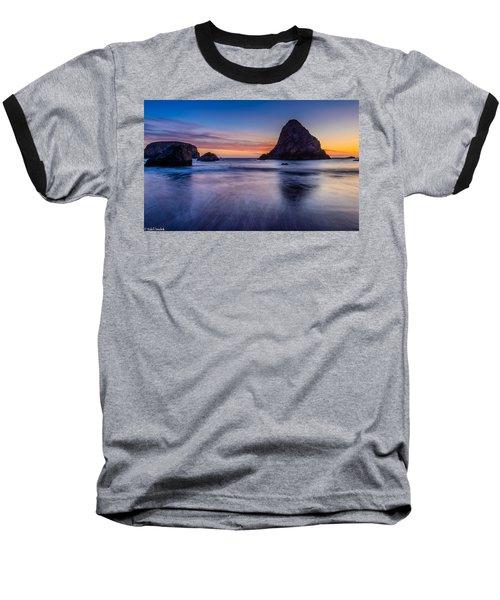 Whaleshead Beach Sunset Baseball T-Shirt