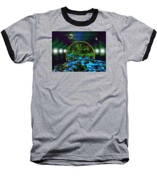 Whare Peaceful Waters Flow Baseball T-Shirt
