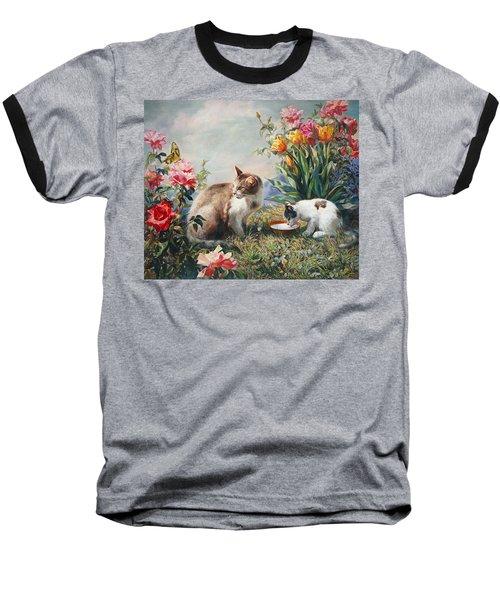 What A Girl Kitten Wants Baseball T-Shirt