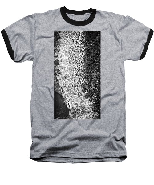 What Are Waves, Black And White Baseball T-Shirt