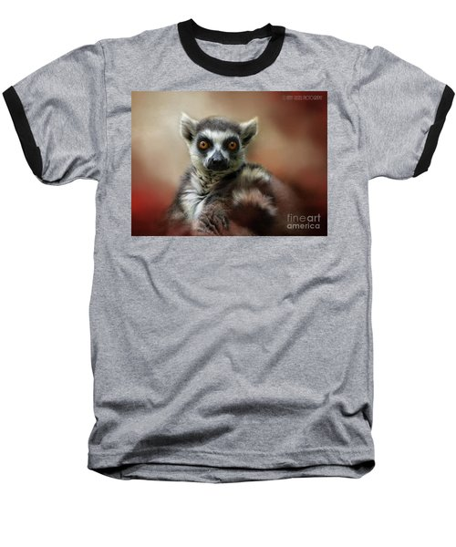 What Big Eyes You Have Baseball T-Shirt by Kathy Russell