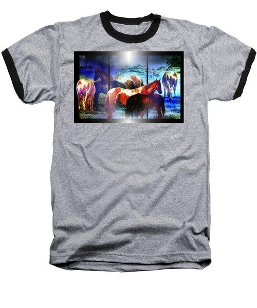What  Horses Dream Baseball T-Shirt