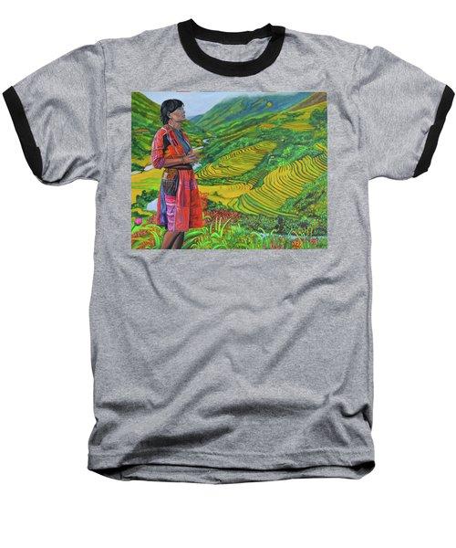 What If Baseball T-Shirt by Thu Nguyen