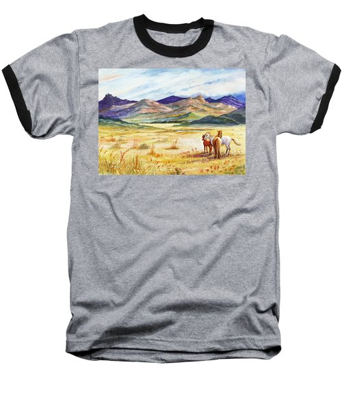 Baseball T-Shirt featuring the painting What Lies Beyond by Marilyn Smith