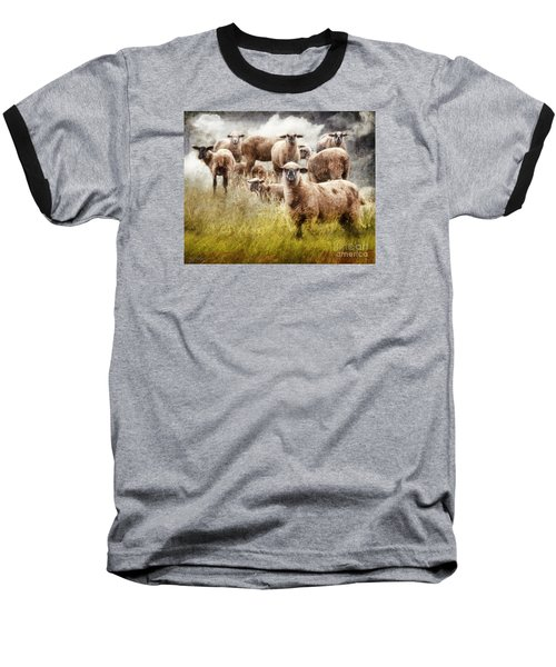 Baseball T-Shirt featuring the photograph What You Lookin' At? by Rhonda Strickland