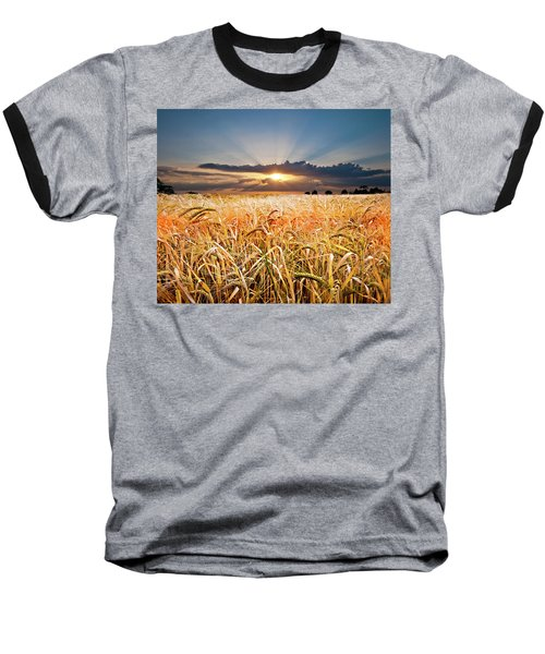 Wheat At Sunset Baseball T-Shirt