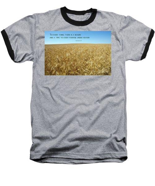 Wheat Field Harvest Season Baseball T-Shirt