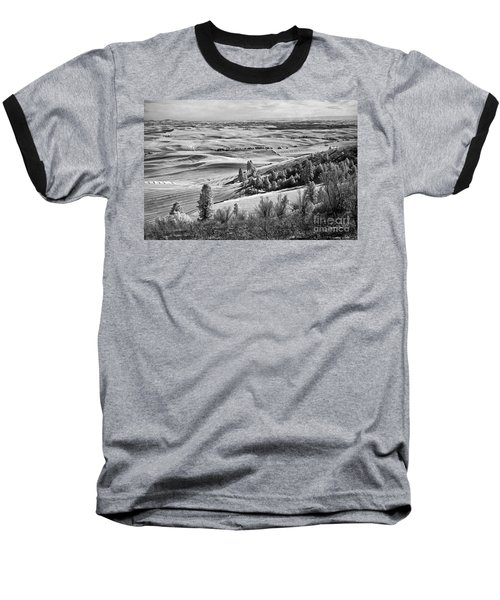 Baseball T-Shirt featuring the photograph Wheatfields Of Kamiak Butte by Martin Konopacki