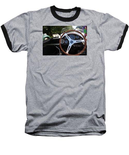 Wheel Baseball T-Shirt by Gary Bridger