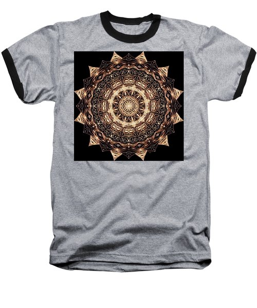 Wheel Of Life Mandala Baseball T-Shirt