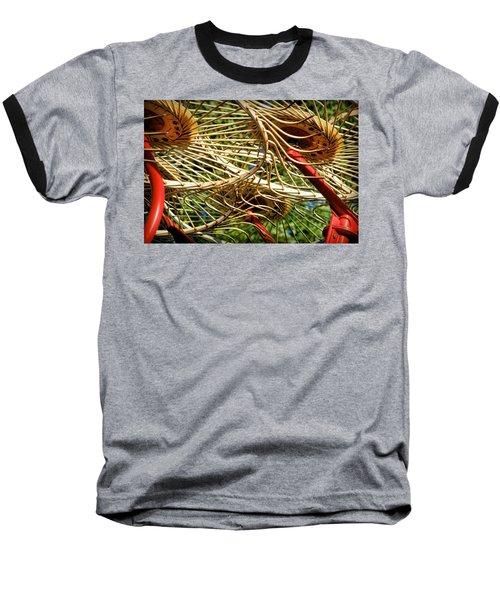 Wheel Rake Abstract Baseball T-Shirt