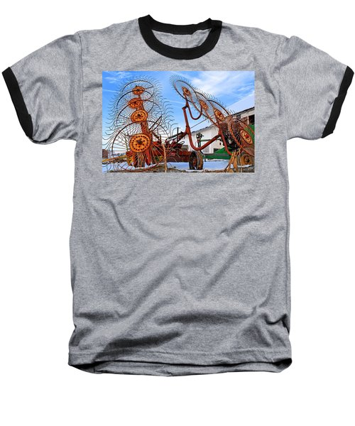 Wheel Rake Upside Down 2 Baseball T-Shirt