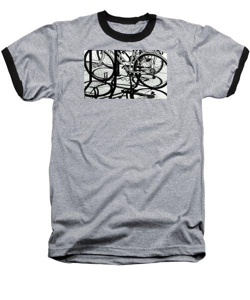 Wheels Baseball T-Shirt by David Gilbert