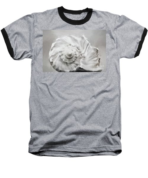 Baseball T-Shirt featuring the photograph Whelk In Black And White by Benanne Stiens