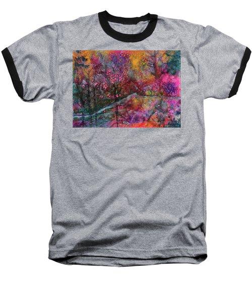 When Cherry Blossoms Fall Baseball T-Shirt by Donna Blackhall