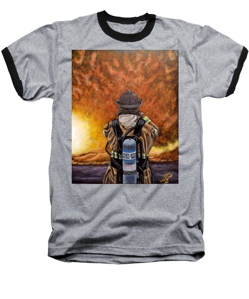 When Hell Comes To Visit Baseball T-Shirt