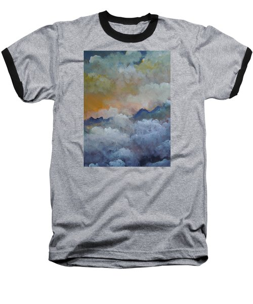 Baseball T-Shirt featuring the painting When I Consider Your Heavens Psalm 8 by Dan Whittemore