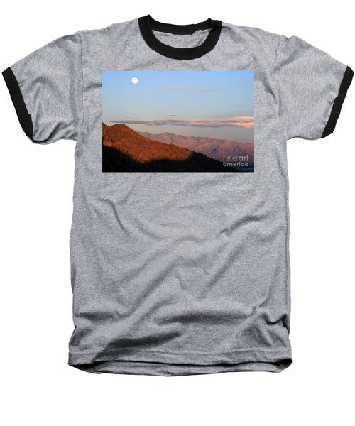 Baseball T-Shirt featuring the photograph When The Mountains Turn Pink... by Paula Guttilla