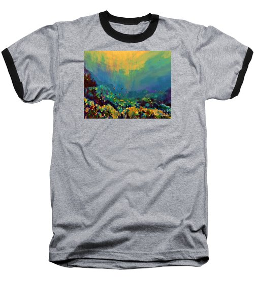 When The Sun Is Looking Into The Sea Baseball T-Shirt by AmaS Art