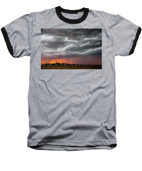 Baseball T-Shirt featuring the photograph When Trouble Rises.....  by Shirley Heier