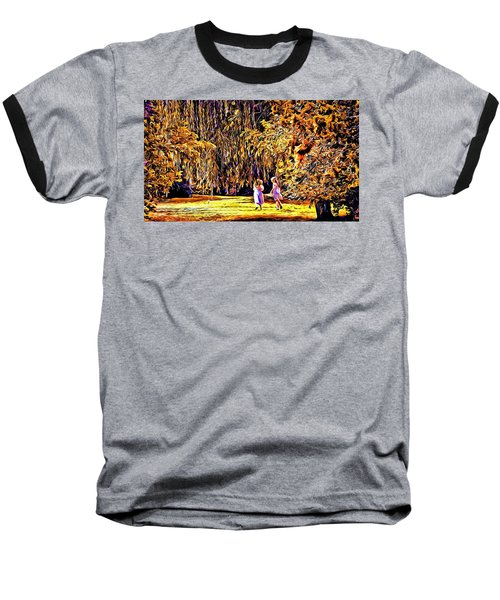 When We Were Young... Baseball T-Shirt by Barbara Dudley