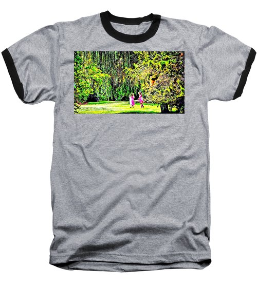 When We Were Young II Baseball T-Shirt by Barbara Dudley