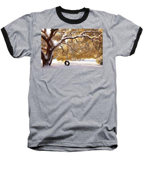When Winter Blooms Baseball T-Shirt by Karen Wiles