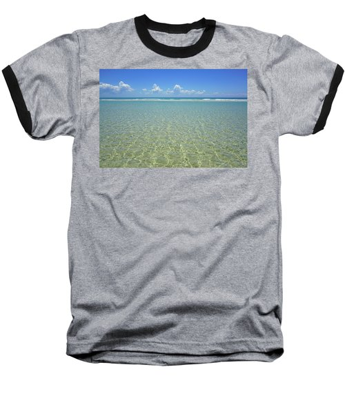 Where Crystal Clear Ocean Waters Meet The Sky Baseball T-Shirt