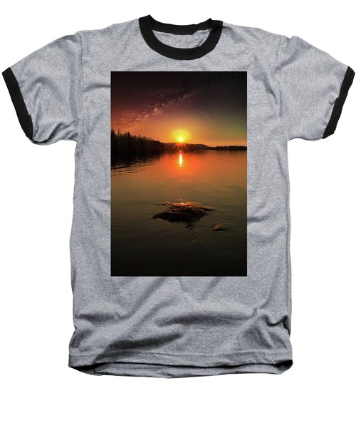 Where Heaven Touches The Earth Baseball T-Shirt by Rose-Marie Karlsen