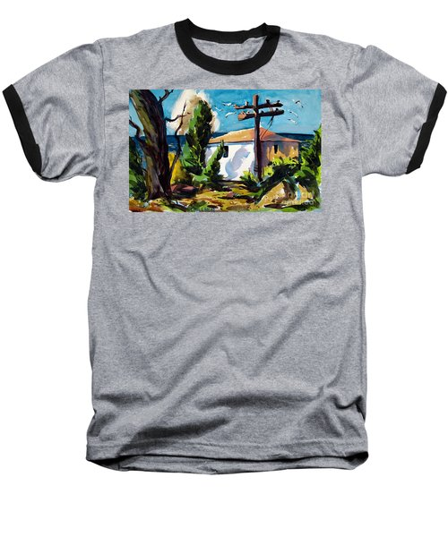 Baseball T-Shirt featuring the painting Where I Will Be Double Matted And Plexi-glass Metal Framed by Charlie Spear